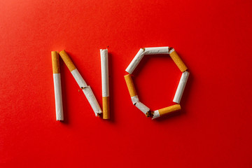 World no tobacco day and stop smoking campaign concept.