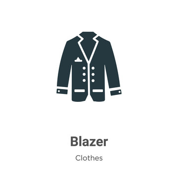 Blazer vector icon on white background. Flat vector blazer icon symbol sign from modern clothes collection for mobile concept and web apps design.