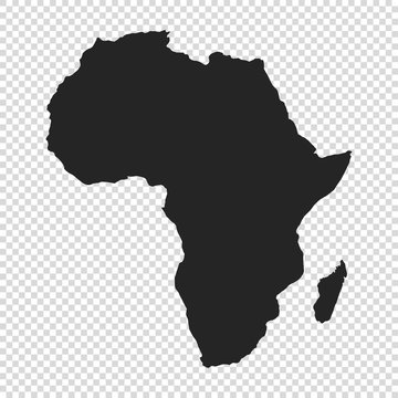 map of Africa on transparent background