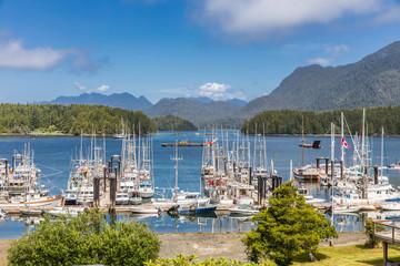 Harbor in Tofino, Vancouver Island, Canada