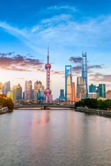 Fotobehang Aziatische Plekken Architectural landscape and city skyline in Shanghai