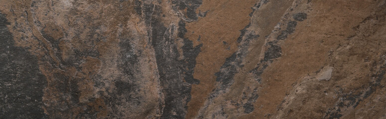 top view of textured stone surface with copy space, panoramic shot