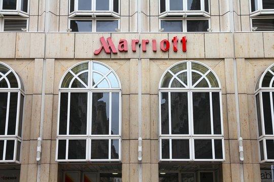 VIENNA, AUSTRIA - SEPTEMBER 9, 2011: Marriott hotel in Vienna. Marriott International has 3,800 properties in 74 countries and had 12.31 billion USD revenue in 2011.