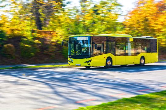 Public transport yellow bus