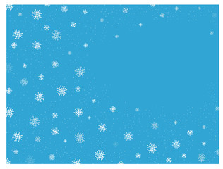 Winter  vector background with falling snowflakes. Free for text.