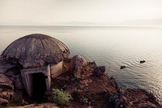 Bunker at Lake Ohrid in Albania