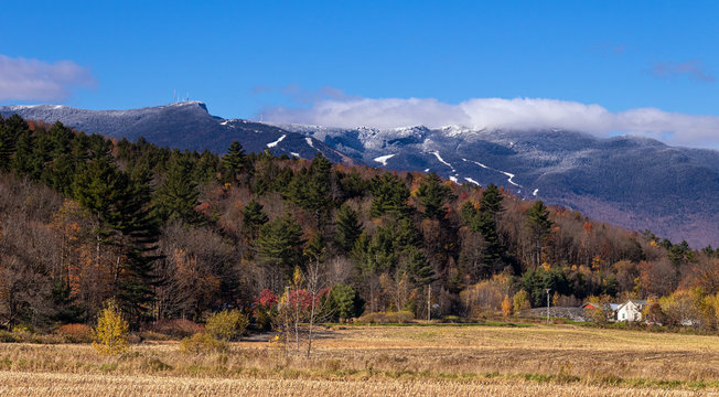 Mount Mansfield Vermont USA at falls