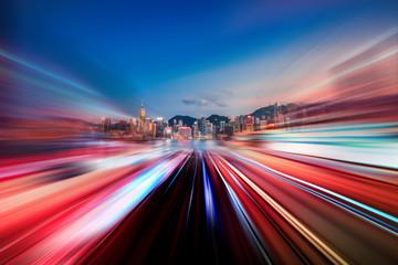 Hong Kong City Nightscape Fototapete