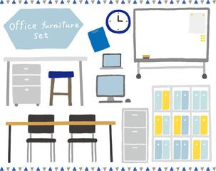 オフィス家具のセット