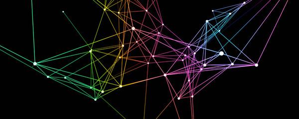Futuristic plexus panorama background design illustration Fototapete