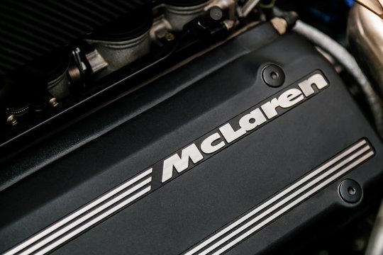 Johannesburg, South Africa -  October 16, 2014: McLaren F1 Sports Car Engine