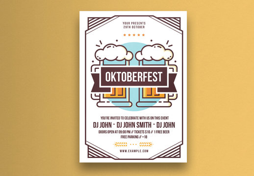 Oktoberfest Illustrative Flyer Layout