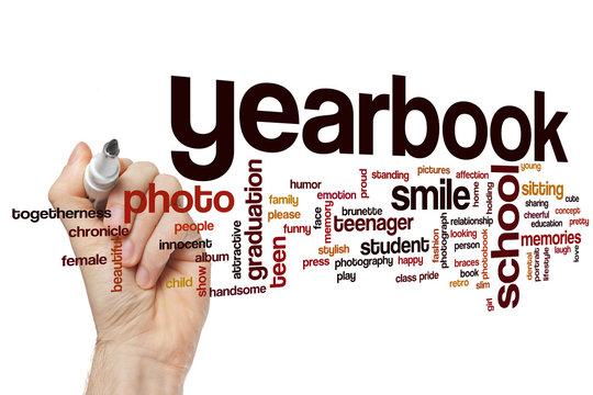 Yearbook word cloud