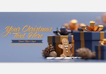 Christmas Themed Text Mockup