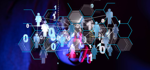 Social Media Communication Internet Network 3d
