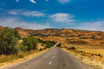 road through the landscape mountains of Vayots Dzor landmark of Armenia eastern Europe