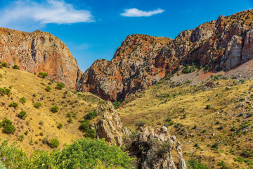 mountains landscap of Noravank in Vayots Dzor e landmark of Armenia eastern Europe