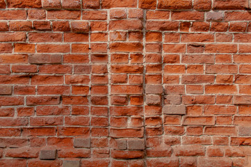 Very old red brick wall.