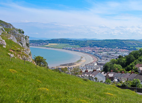 A View from the Great Orme High Above Llandudno, Wales, GB, UK
