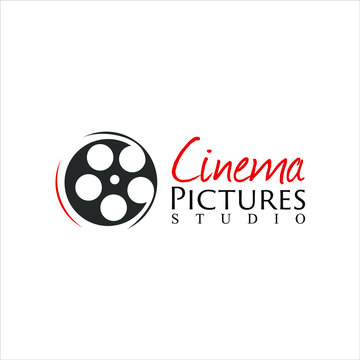 simple black cinema logo film icon