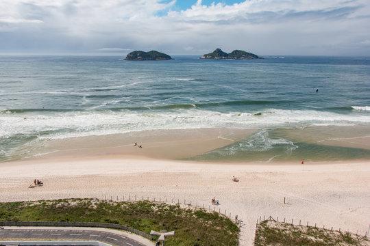 Barra da Tijuca beach in Rio de Janeiro, Brazil
