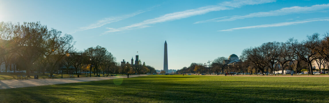 Washington Monument view from National Mall