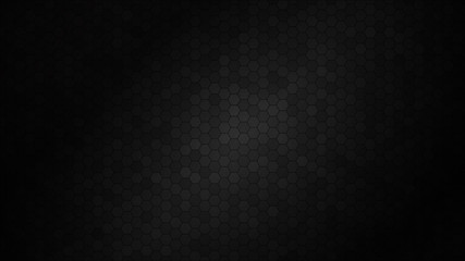 Abstract black texture background hexagon. Vector illustration.