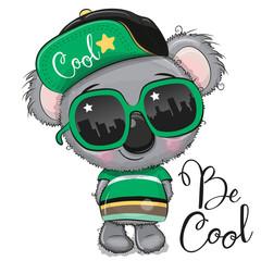 Cartoon Koala with sun glasses