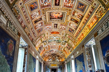 Vatican - May 2019: Interiors of Vatican museum