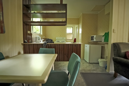 interior of a 70s-style home