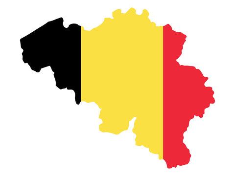 Belgium map flag Vector illustration eps 10