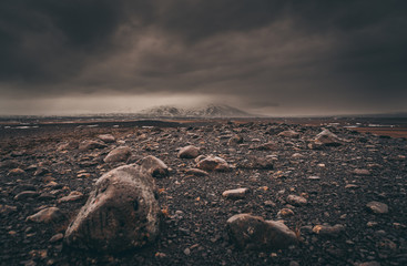 Photo sur cadre textile Gris traffic The Dark Iceland Version 2