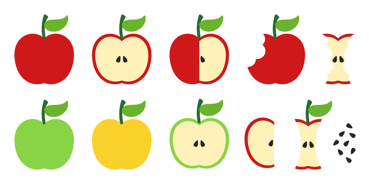Set of apple illustrations