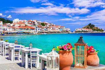Photo sur Aluminium Europe Méditérranéenne Traditional Greek seaside taverns . beautiful Samos island, Kokkari village