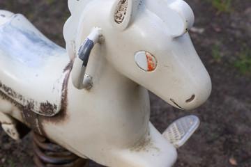 White Horse in Playground