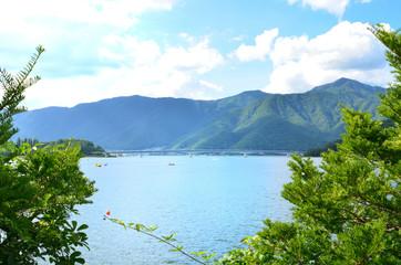 河口湖 山梨県南都留郡富士河口湖町の風景