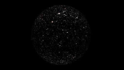 Wall Mural - Cyberspace Network Sphere With Stars