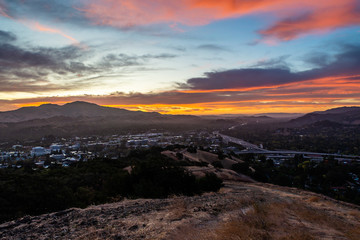 Printed kitchen splashbacks Cappuccino Dawn over the East Bay and Mount Diablo