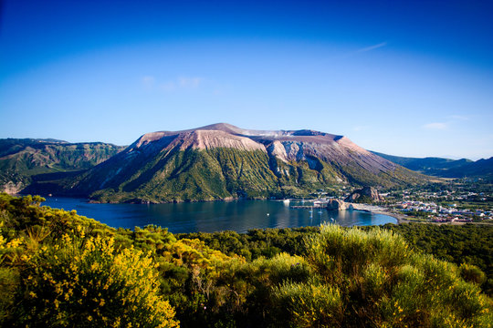Vulcano in the aeolian island