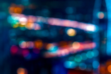 Abstract night cityscape bokeh blurred lights background in Los Angeles Fototapete