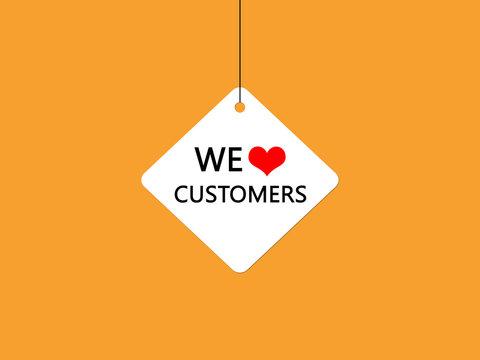 We love customers