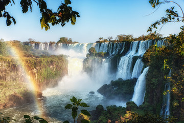 Photo sur Aluminium Piscine Beautiful View of Iguazu Falls