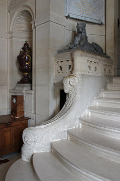 stairs - castle of chantilly - france