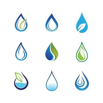 Water drop vector icon