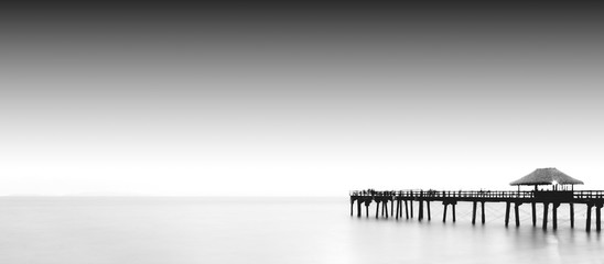 Pier black and white