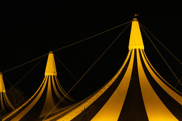 Circus tent in the night