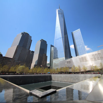 New York, 9/11 Memorial and One World Trade Center