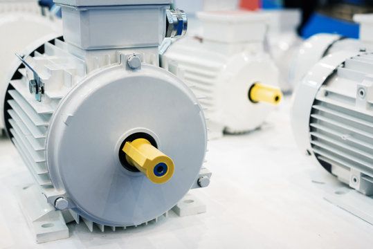 New electric motors. Electric motors are painted white.