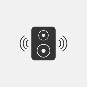 speaker sound system icon isolated vector trend
