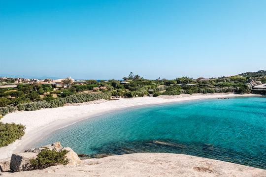 Deserted beach on Cavallo Island in Corsica